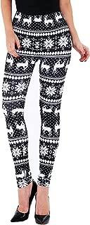 Christmas Leggings for Women, Fleeced Lined Winter...