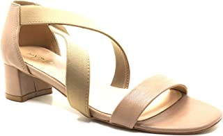 hype Women's Short Heeled Front Strap Lycra Sandal ZD11058