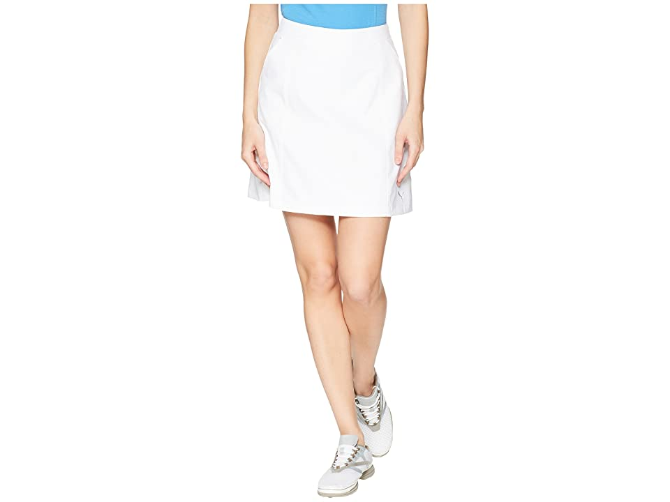 PUMA Golf 18 Pounce Skirt (Bright White) Women