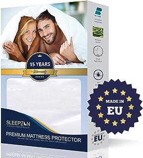 ⭐ Protector de Colchón Impermeable 140X190/200, Muletón 100%, Cubre Colchón - Anti-ácaros, Antibacteriano, Antimoho, hipoalergénico - Transpirable y muy suave - Hecho en Europa - 15 años de garantía