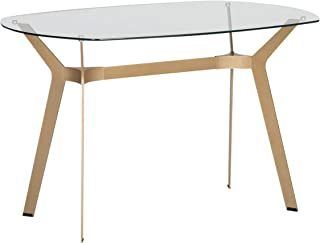 Best gold glass dining table Reviews