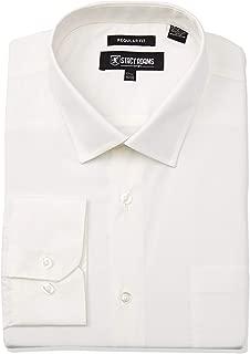 Stacy Adams Men's Solid Regular Cuff Dress Shirt