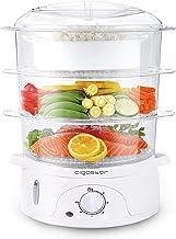 Aigostar Fitfoodie 30CFO - Cuiseur vapeur électrique 0% BPA. Puissance de 800W, minuterie, 3 niveaux indépendants de cuiss...