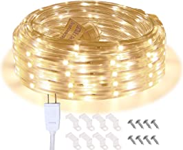 Areful LED Rope Lights, 16.4ft Waterproof Connectable Strip Lighting, 3000K Soft White, Indoor Outdoor Mood Lighting for Home Christmas Holiday Garden Patio Party Decoration