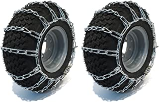 PAIR 2 Link TIRE CHAINS 15x5x6 fits many Can-Am Commander Defender Maverick UTV