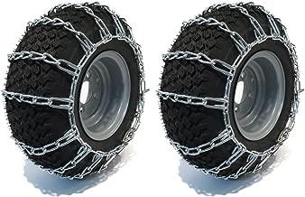 The ROP Shop New 2-Link TIRE Chains 23x10.50x12 fits Polaris UTV ATV 4-Wheeler Quad Vehicle