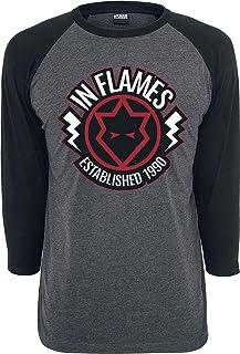 In Flames Jesterhead 1990 Hombre Camiseta Manga Larga Gris/Negro, Regular