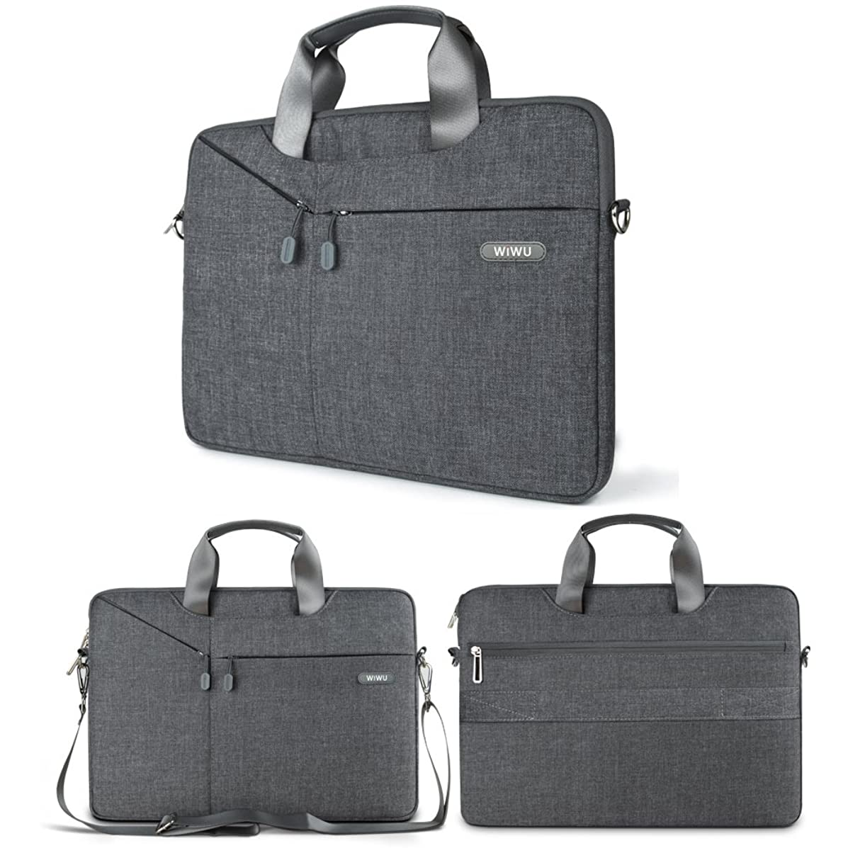 WIWU Multifunctional Business Briefcase Luxury Portable Laptop Sleeve Case Carrying Messenger Bag for 13