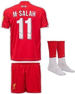 Liverpool 2019-20 Salah - Camiseta de Manga Larga para niños con Pantalones Cortos y Calcetines (Tallas 2-14 años)