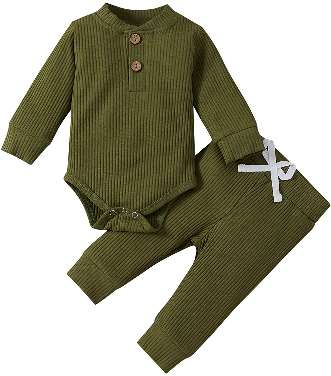 Max 44% OFF Large-scale sale Unisex Baby Pajamas Girl Boy Solid Clothes Rom Long Sleeve