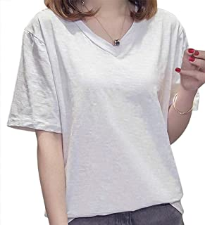 [ SmaidsxSmile(スマイズ スマイル) ] Tシャツ 半袖 インナー トップス Vネック 無地 シンプル カジュアル レディース