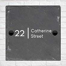 Be-Creative Rustieke natuurlijke leisteen huis poort teken gepersonaliseerd naambord - (30cm x 20cm)