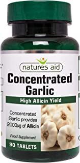 Natures Aid Garlic concentrated 2000ug Allicin, 90 Tablets