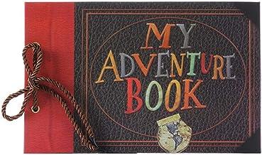 BVYO Vintage Kraft Paper Sheets Card Baby DIY Adventure Book Album Handmade DIY Photo Scrapbook Photo Album,My Adventure Book