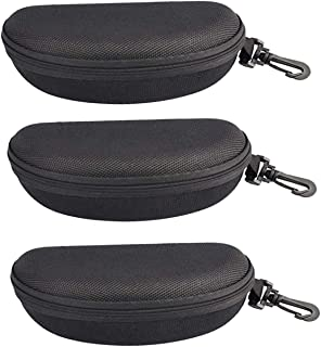 StyleZ 3 PCS Zipper Eye Glasses Sunglasses Hard Case Box Holder Portable Protector