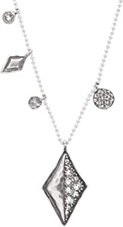 Icy Elements' Multi-Charm Necklace with Swarovski Crystals in Sterling Silver