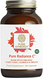 Pure Synergy Pure Radiance C | 90 Capsules | Made with Organic Ingredients | Non-GMO | Vegan | 100% Natural Vitamin C with...