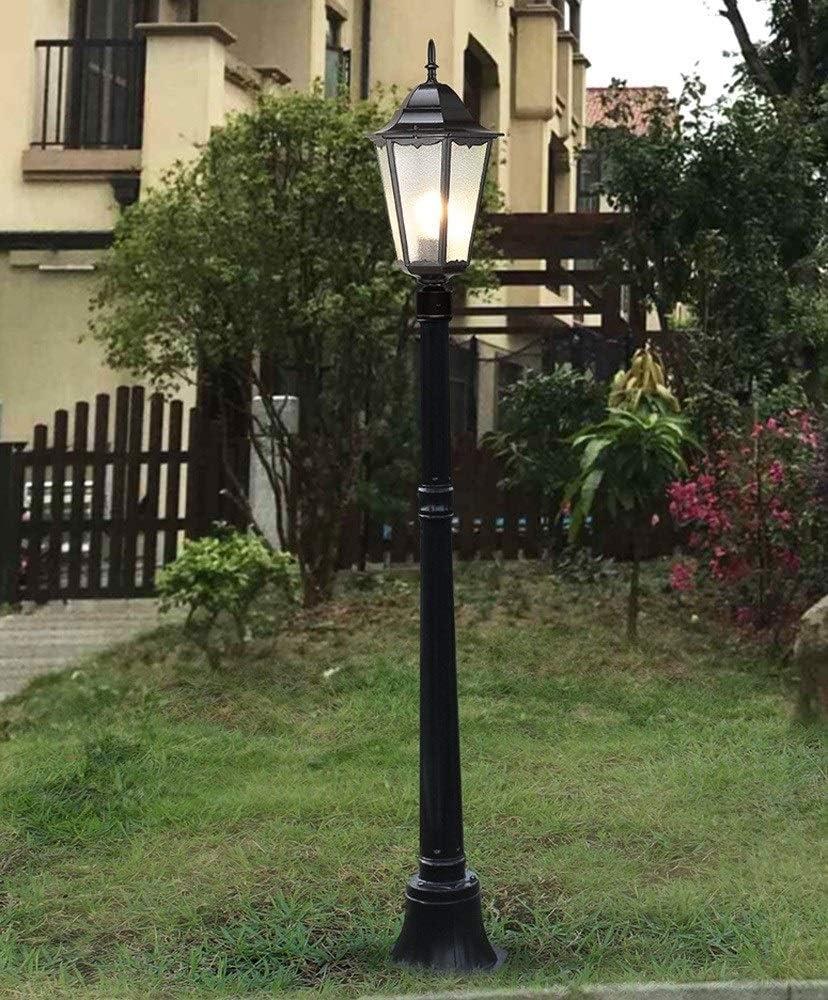 Ver Victoria Villa l/ámpara camino paisaje jard/ín exterior polo luz piso antig/üedad europea columna vidrio prueba agua l/ámpara linterna aluminio alta Polo E27Decor anuncio Farola Yard Ruta luz antorcha