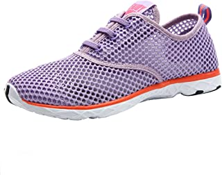 ALEADER Womens Aqua Purple Size: 8