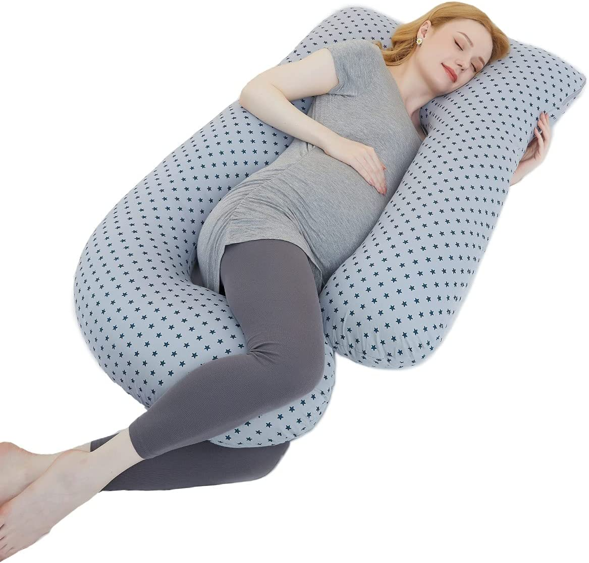 BBHoping Pregnancy Pillows Maternity Pillow for Sleeping U-Shaped Full Body Pillow for Pregnant Women