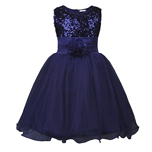 JerrisApparel Little Girls  Sequin Mesh Flower Ball Gown Party Dress Tulle  Prom 5c64fd59f4d8
