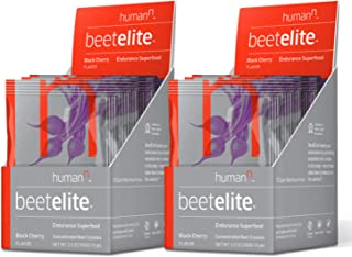 HumanN BeetElite Superfood Concentrated Beet Powder Nitric Oxide Boosting Athletic Endurance Supplement (Black Cherry Flavor, 0.35-Ounce, 20 Packets)