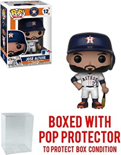 Funko POP! Sports MLB Houston Astros Jose Altuve Action Figure (Bundled with Pop Box Protector to Protect Display Box)