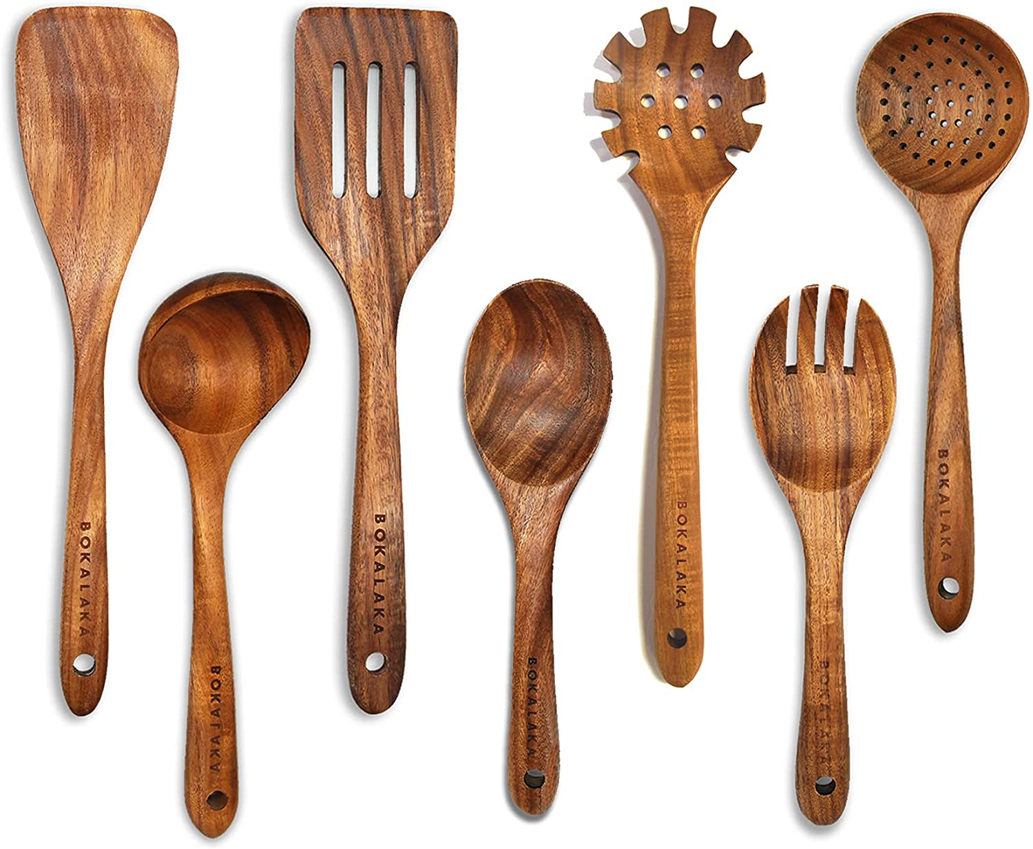 Wooden Spoons for Cooking Teak New York Mall wholesale 7Pcs Utensils