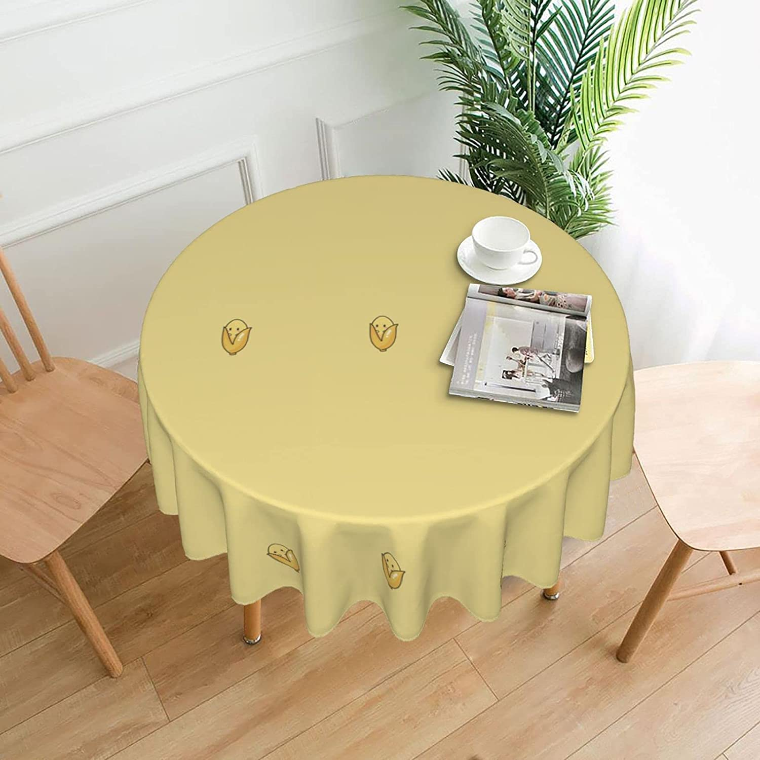 TUOKEO Round Tablecloth Water Resistant Table Washable for Ranking New item TOP17 Cover