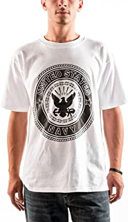 Official Physical Training Us Navy Emblem T-Shirt USN White PT Tee