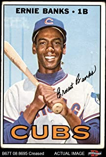 1967 Topps # 215 Ernie Banks Chicago Cubs (Baseball Card) Dean`s Cards 2 - GOOD Cubs
