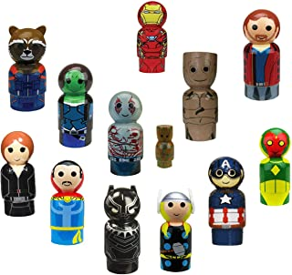 Avengers Endgame Pin Mates 13 Piece Bundle Collection (Thor, Vision, Ironman, Black Panther, Captain America, Groot, Dr. Strange, Black Widow, Guradians of The Galaxy)