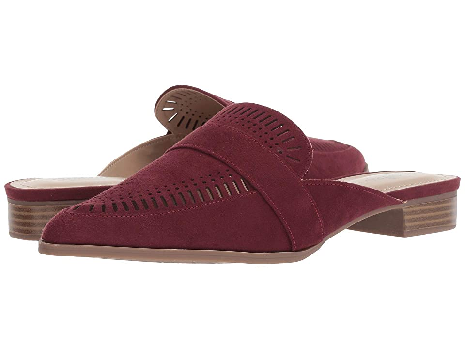 Charles by Charles David Elle Slip-On Mule (Burgundy Microsuede) Women