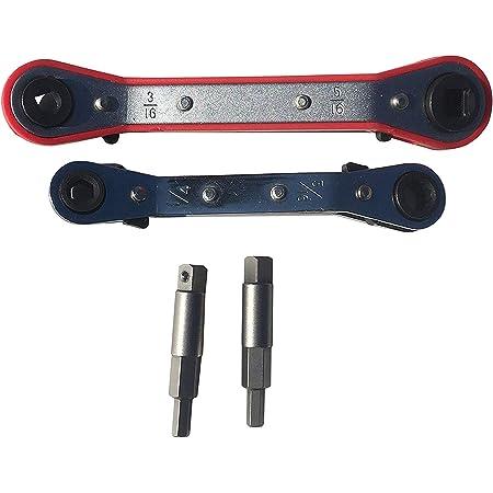 7 mm Llave de trinquete m/étrica de 6 mm a 13 mm de carraca reversible con anillo de engranaje de dientes finos para herramientas de reparaci/ón de llaves