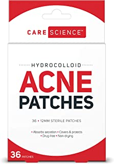 Care Science Hydrocolloid Acne Pimple Patch, 36 Count   Waterproof Invisible Skin Treatment to Cover and Absorb Acne, Pimples, Blemishes & Cold Sores by The Leader in First Aid