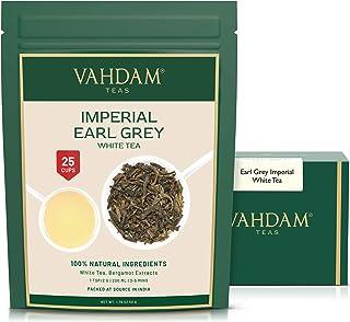 Sponsored Ad - VAHDAM, Earl Grey Imperial White Tea Loose Leaf (25 Cups) | HEALTHIEST TEA, 100% NATURAL White Tea Leaves |...