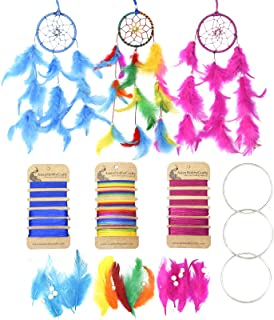 Asian Hobby Crafts DIY Car Hanging Dream Catcher Kit : Make Three Complete Dream Catcher
