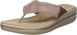 Skechers Women's Upgrades-Stone Cold Rose Gold Fashion Slippers-6 UK (39 EU) (9 US) (41055-RSGD)