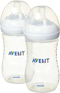 Philips Avent Natural Baby Bottle, Clear, 9oz, 2pk, SCF013/27