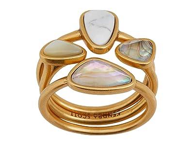 Kendra Scott Ivy Ring Set (Vintage Gold White Mix) Ring