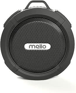 Mello Mini 2.0 | Shower Speaker - Bluetooth, Waterproof, Removable Suction Cup, Travel Clip, Long-Lasting (USB) Rechargeable Battery, 5 Watt Speaker, Wireless, Durable (Black)