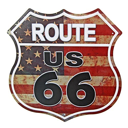 Nostalgic-Art Grande plaque m/étal Route 66 The Mother Road