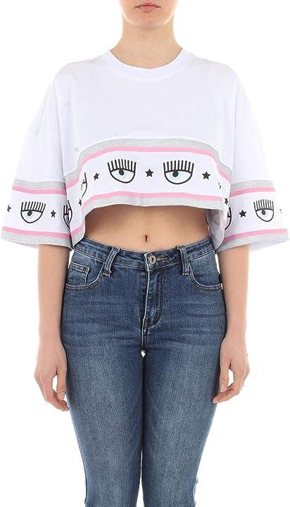 T-shirt maglietta chiara ferragni cotone bianco 21PE-CFT115
