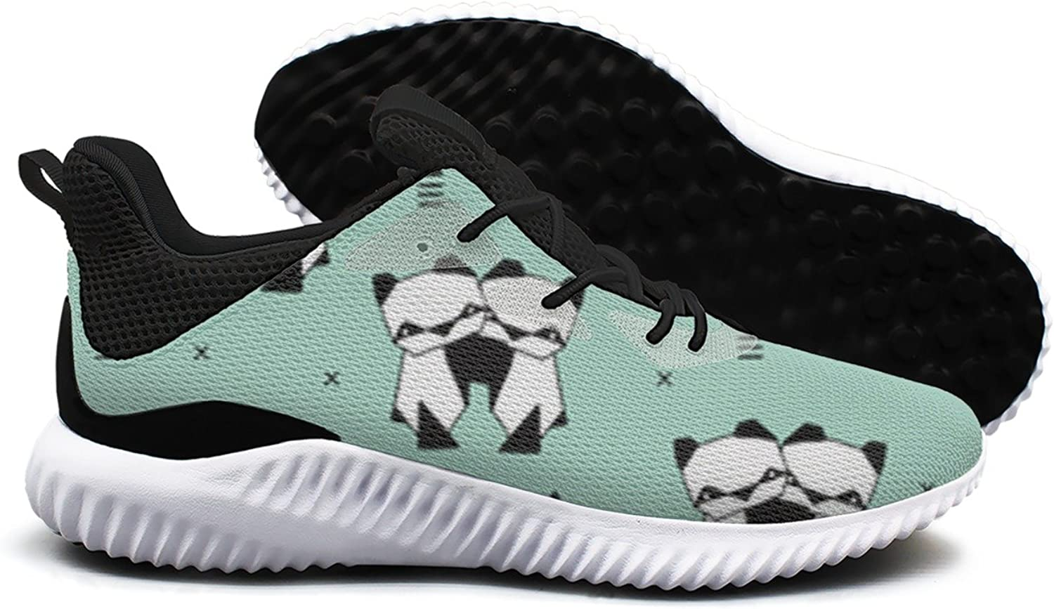 Animals Panda Geometric Triangle Style Leisure Design Running shoes Woman Top Novelty Active