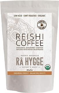 RaHygge |USDA-Organic| Reishi Mushroom Coffee - Ground, Medium Roast, Low-Acid (8oz/20Servings) • [3 Varieties Available, Powerful Immune & Energy Boost, Extracts from Wild-Grown Fruiting Bodies]