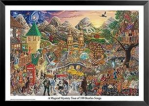 ملصق مطبوع عليه صورة لغموض سحرية من 100 أغاني بيتلز بواسطة توم ماسي 32 × 22 من فن موسيقي الروك آند رول مان كيف