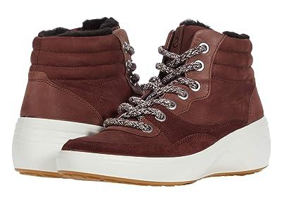 ECCO Soft 7 Wedge Tred Winter Boot (Chocolate/Chocolate/Chocolate) Women