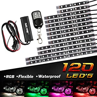 red led motorcycle accent lights