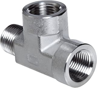 Parker Stainless Steel 316 Pipe Fitting, Street Tee, 1/4