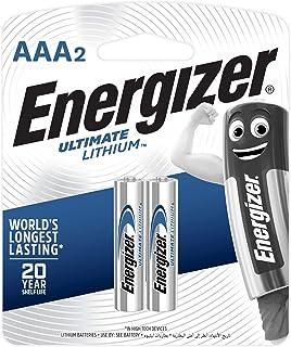 بطاريات ليثيوم AAA التيميت من انرجايزر، قطعتين - 1.5 فولت
